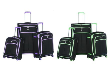 Olympia USA O-Tron Expandable Spinner Luggage Set (3-Piece)