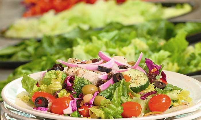 Q. Cumbers - Edina: Healthy Buffet Food at Q. Cumbers (Up to 40% Off). Two Options Available.