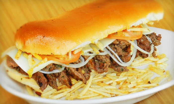 Sarussi Cafe Subs - Miami: Sub Sandwiches with French Fries and Sodas for Two or Four, or a $45 Gift Card at Sarussi Cafe Subs (Up to 51% Off)