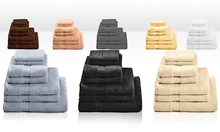 handtuch set gyptische baumwolle groupon goods. Black Bedroom Furniture Sets. Home Design Ideas