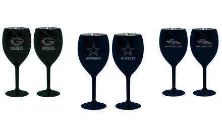 NFL Glitter Ice Wine Glass (2-Pack)