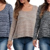 Hacci Scoop-Neck Top with Back Slit (3-Pack)