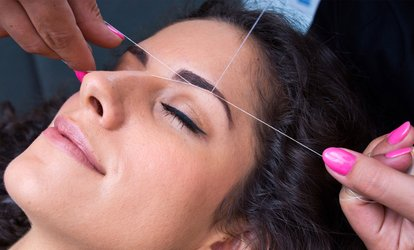 One or Three <strong>Eyebrow-<strong>Threading</strong></strong> Sessions with Optional Upper Lip <strong>Threading</strong> Session at Amy's Beauty Salon (Up to 53% Off)