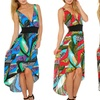 Jungle Lace Back High-Low Dress