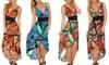 Jungle Lace Back High-Low Dress: Jungle Lace Back High-Low Dress