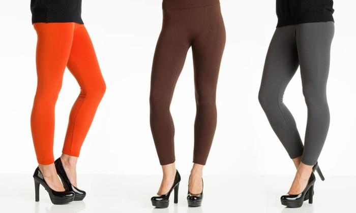 6-Pack of Fleece Leggings: $29.99 for a 6-Pack of Womens' Fleece-Lined Leggings ($79.99 List Price). Multiple Style. Free Shipping and Returns.