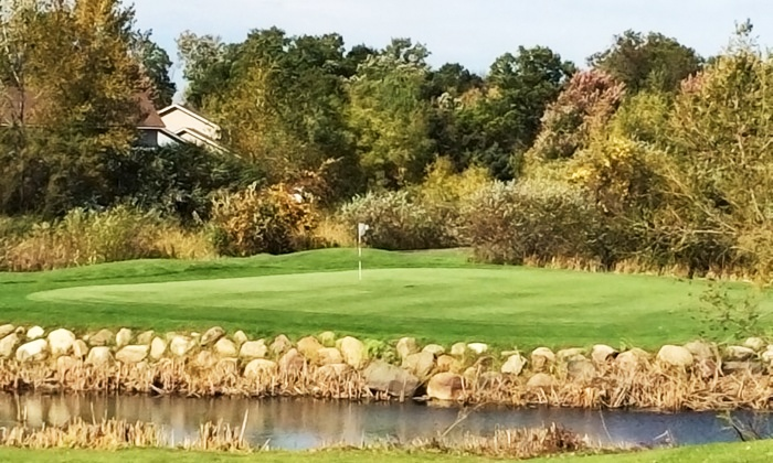 The Ponds Golf Course and Restaurant - Shade Tree Communities: Golf Outing with Cart for Two or Four at The Ponds Golf Course and Restaurant in St. Francis (Up to 62% Off)