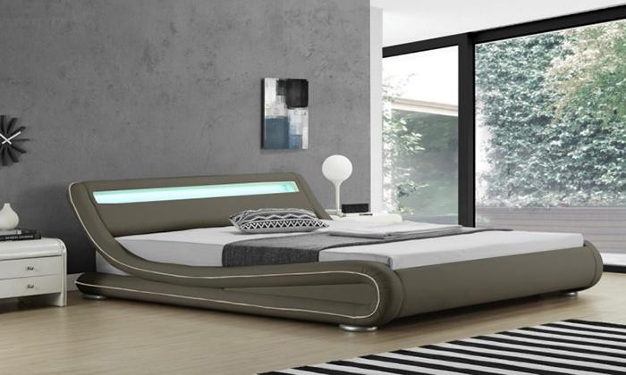 lit design led groupon table de lit a roulettes. Black Bedroom Furniture Sets. Home Design Ideas