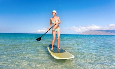 1 hora de Big Sup para 4 u 8 personas desde 19,95 € en SurfWave Málaga Sup
