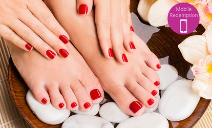 From $25 for Gel Manicure, or $35 for a Full Set of Acrylic Nails at Amy's Hair and Nail Design (Up to $110 Value)