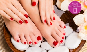 Amy's Hair and Nail Design: From $25 for Gel Manicure, or $35 for a Full Set of Acrylic Nails at Amy's Hair and Nail Design (Up to $110 Value)