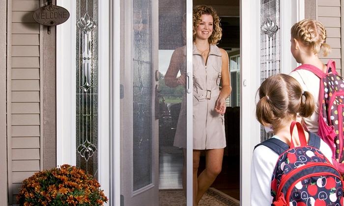 Expert Window & Door Solutions - Vancouver: Retractable Entrance-Door or Double French-Door Screens from Expert Window & Door Solutions (Up to 79% Off)