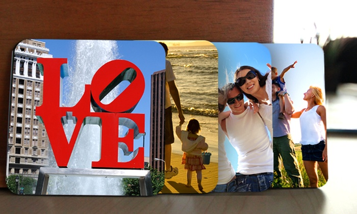 Picture It On Canvas: Custom Photo Coaster Sets from Picture It On Canvas (Up to 70% Off)
