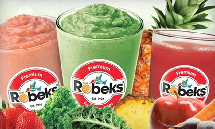 Robeks Juice Manhattan Beach - Hawthorne: $15 for Three Groupons, Each Good for $10 Worth of Fresh Juice and Smoothies at Robeks Juice ($30 Total Value)