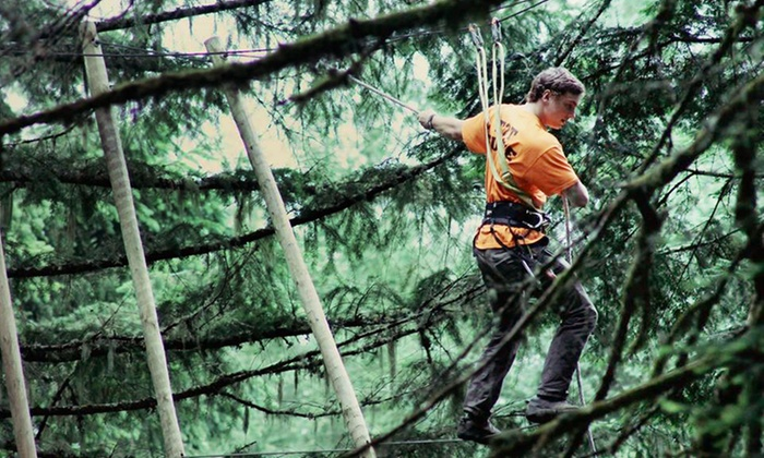 Tree to Tree Adventure Park - Between Portland and The Coast: $30 for an Aerial Obstacle Adventure Course Experience at Tree to Tree Adventure Park ($48 Value)