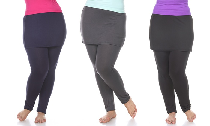 Women's Plus-Size Skirted Leggings | Groupon