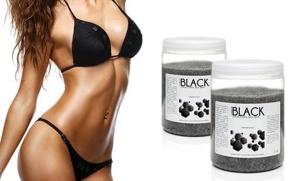 Fino a 4 scrub corpo al sale nero Carbon Black esfoliante purificante Efory Cosmetics