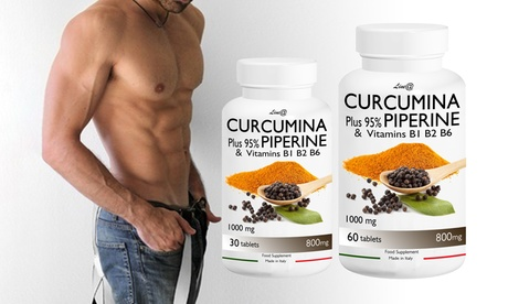 Hasta 720 cápsulas de Curcumina Plus 95% con Piperina