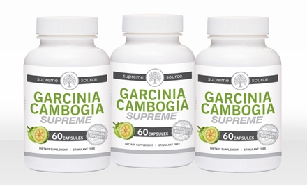 1 Bottle of Supreme Source Garcinia Cambogia or 2 Bottles with 1 Bottle Free
