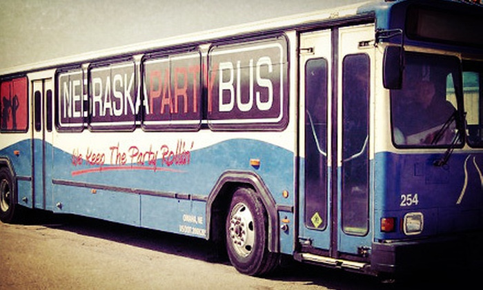 Nebraska Party Bus - West Omaha: $30 for a Roundtrip Party-Bus Ride to a Huskers Game on September 1 or 15 from Nebraska Party Bus ($60 Value)
