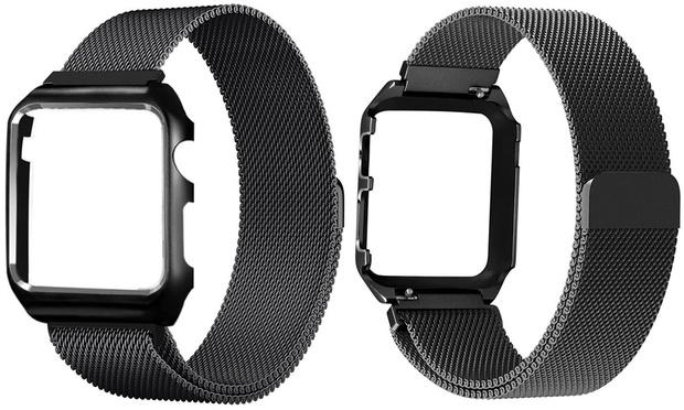 Milanese Loop Mesh Band with a Matching Frame for Apple Watch: One ($16.95) or Two ($29.95)