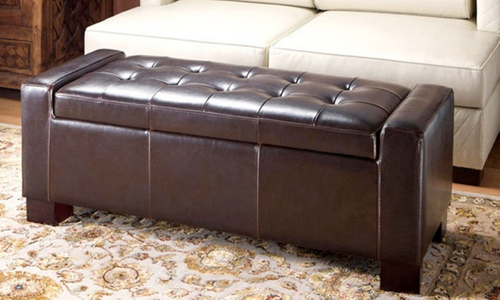 Sensational Large Ottoman Storage Box In Black Or Brown For 69 95 Free Delivery 50 Off Machost Co Dining Chair Design Ideas Machostcouk