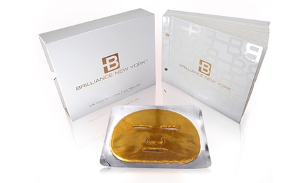 24-Karat Gold Brilliance New York Indulgence Face Mask (12-Pack)