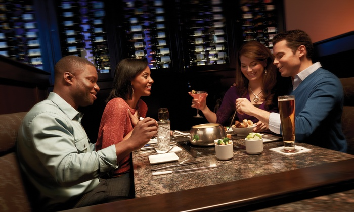 The Melting Pot - Multiple Locations: Fondue Dinner for Two or Four at The Melting Pot (37% Off). Four Locations Available.