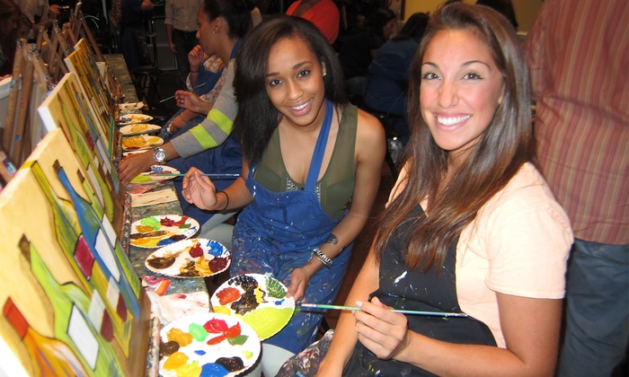 Pinot's Palette - Little Rock - Pleasant Ridge Town Center: $35 for a Paint & Sip Art Session for Two People at Pinot's Palette ($70 Value)