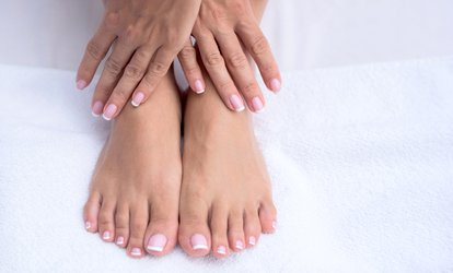 image for Gelish Manicure or Pedicure or Both at Jayne At The Vanity Lounge Hair And Beauty Salon (Up to 49% Off)