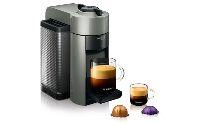 nespresso evoluo capsule coffee and espresso maker groupon. Black Bedroom Furniture Sets. Home Design Ideas