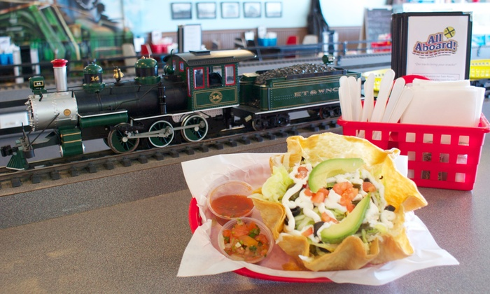 All Aboard! Family Dining and Amusement - Frankfort: $9 for $15 Worth of Casual Food for Pickup or Delivery at All Aboard! Family Dining and Amusement. Order Online.