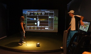 Fore Seasons Golf: Two- or Four-Hour Golf-Simulator Session with Two Drinks Per Person (Up to 48% Off)