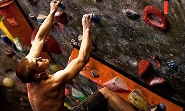 Hangar 18 Indoor Climbing Gyms - Multiple Locations: Indoor Rock Climbing at Hangar 18 Indoor Climbing Gyms (Up to 58% Off). Three Options Available.