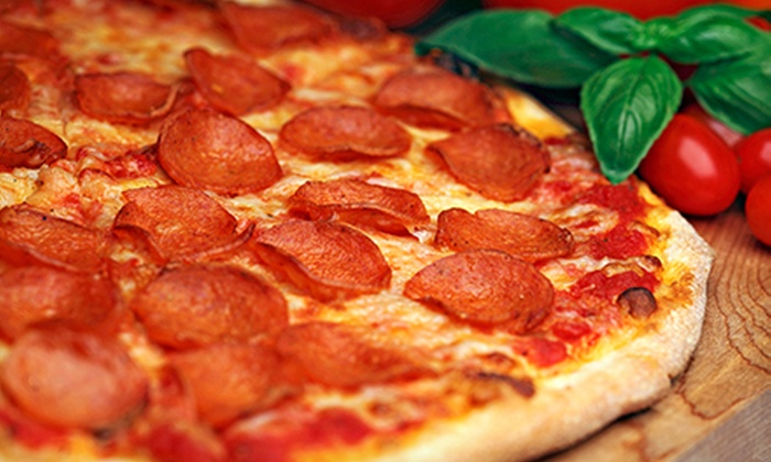 Stars & Stripes Pizza - Northwest Oklahoma City: $8 for Two Large, Up-to-Three-Topping Pizzas for Takeout from Stars & Stripes Pizza ($15.98 Value)