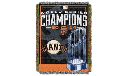 San Francisco Giants World Series Champions Tapestry Throw