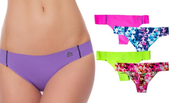 RBX Women's Performance No-Show Bikinis and Thongs (2-Pack)