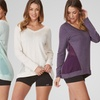 Balance Collection Women's Chiffon Inset Pullover Top