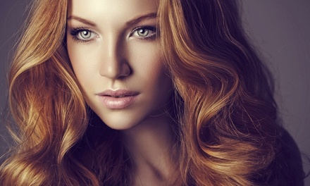 Cut with Option for Color Retouch or Partial Highlights at Argan Hair Salon and Spa (Up to 63% Off)