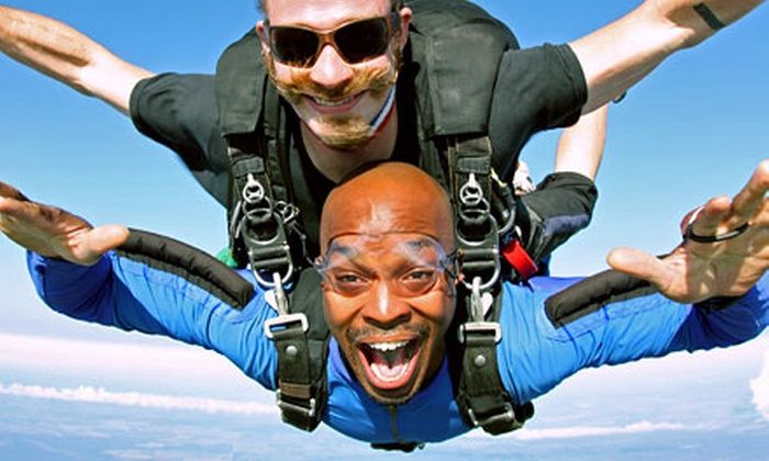 Skydive Spaceland - Rosharon: $139 for a Tandem Skydive Jump for One at Skydive Spaceland (Up to $219 Value)