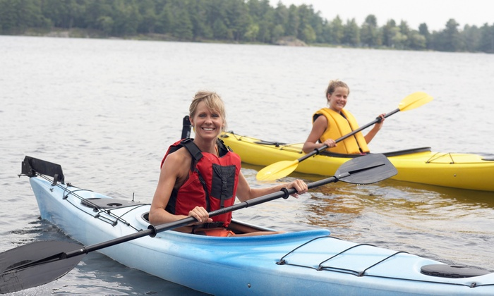 Black Oar SUP, Surf & Watersports - Plymouth - Wayzata: Kayak Rental with Optional Lesson at Black Oar SUP, Surf & Watersports (Up to 49% Off). 6 Options Available.