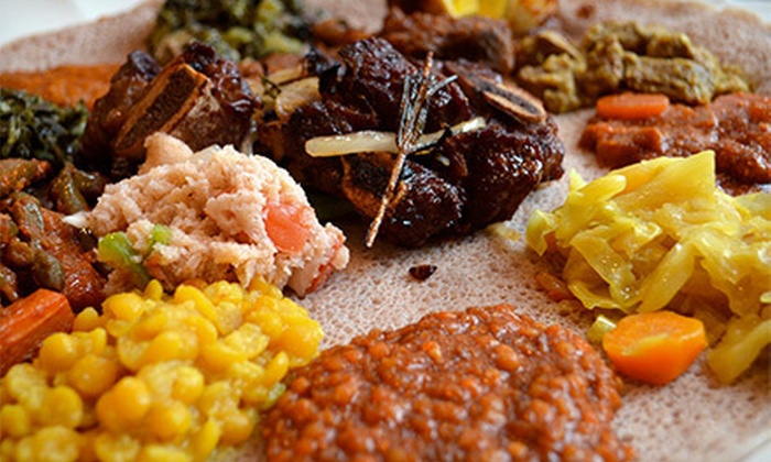 Awash Ethiopian Restaurant - Multiple Locations: Ethiopian Meal for Two or Four in Brooklyn or the East Village at Awash Ethiopian Restaurant (Up to 53% Off)