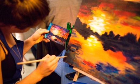 Pinta con Salir con Arte por 16,90 € en Madrid, Barcelona, Zaragoza, Valencia, Alicante, Castellón, Gijón o Murcia Oferta en Groupon