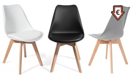 Lot de 2 ou 4 chaises dété Scandinaves TUL, coloris au choix