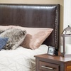 Adjustable Bonded-Leather or Upholstered Fabric Headboards