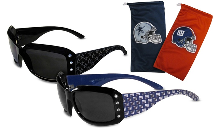 NFL Women's Sunglasses with Protective Cloth Bag: NFL Women's Sunglasses with Protective Cloth Bag