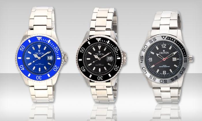 Croton Men's Diver's Sports Quartz Watches: Croton Men's Diver's Sports Watch. Multiple Colors Available. Free Shipping.