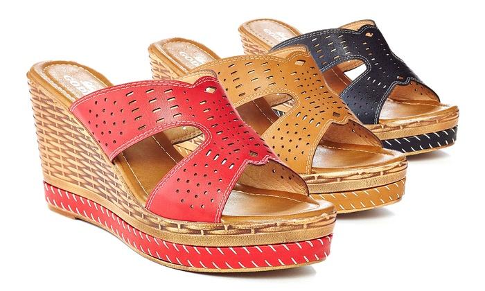 Lady Godiva Women's Wedge Sandal: Lady Godiva Women's Wedge Sandal