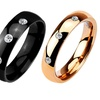 Cubic Zirconia Dome Rings in 316L Stainless Steel