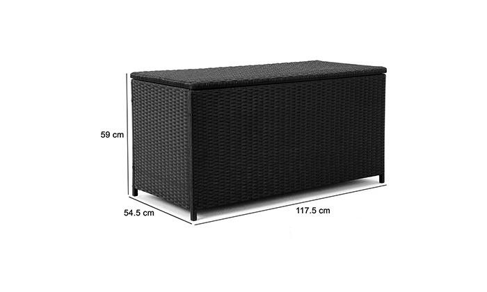 polyrattan auflagenbox groupon goods. Black Bedroom Furniture Sets. Home Design Ideas